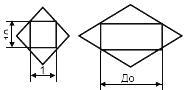 Размеры прибора входящего в контур - основное обозначение