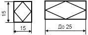 Размеры прибора входящего в контур - допускаемое обозначение