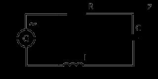 Импеданс, полное сопротивление при последовательном включении емкости и индуктивности.