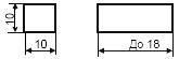Размеры прибора - допускаемое обозначение